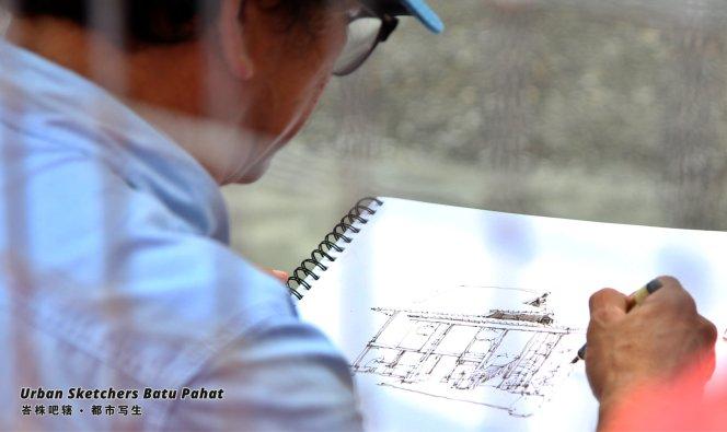 Urban Sketchers Batu Pahat Johor Malaysia Art Drawing Sketching 马来西亚 柔佛 峇株吧辖都市写生 艺术 画画 A007