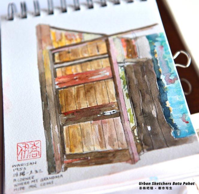 Urban Sketchers Batu Pahat Johor Malaysia Art Drawing Sketching 马来西亚 柔佛 峇株吧辖都市写生 艺术 画画 A015
