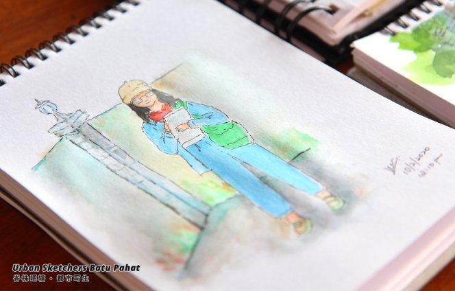 Urban Sketchers Batu Pahat Johor Malaysia Art Drawing Sketching 马来西亚 柔佛 峇株吧辖都市写生 艺术 画画 A020