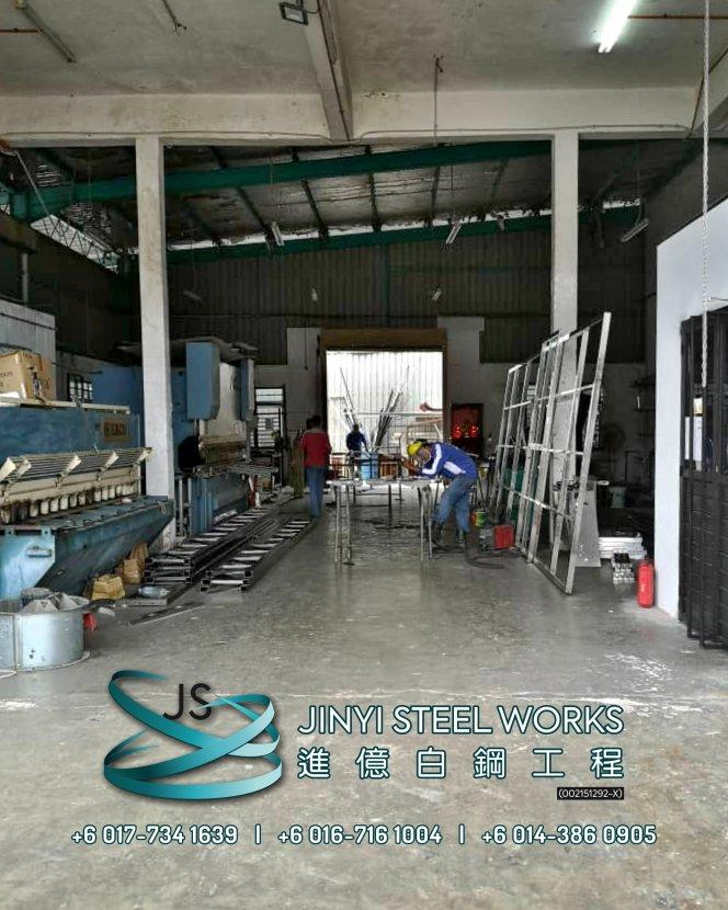 Jinyi Steel Works Pengilang Produk Besi dan Keluli Tahan Karat Menyesuaikan dan Memasangnya Untuk Anda Johor Melaka Negeri Sembilan Kuala Lumpur Selangor Pahang Batu Pahat Stainless Steel B02