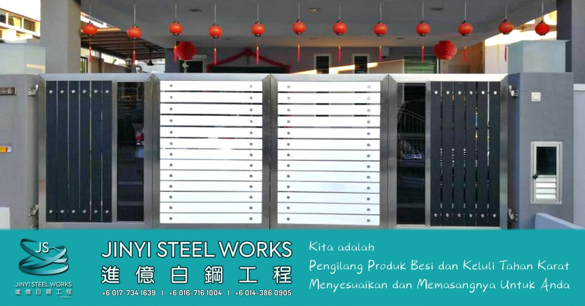 Jinyi Steel Works Pengilang Produk Besi dan Keluli Tahan Karat Menyesuaikan dan Memasangnya Untuk Anda Johor Melaka Negeri Sembilan Kuala Lumpur Selangor Pahang Batu Pahat Stainless Steel B01