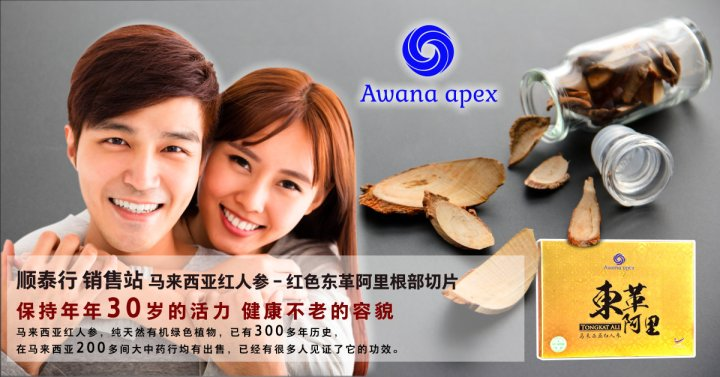 Soon Thye Hang 销售站 马来西亚红人参 红色东革阿里根部切片 Awana Apex 在马来西亚200多间大中药行均有出售 东革阿里 A01