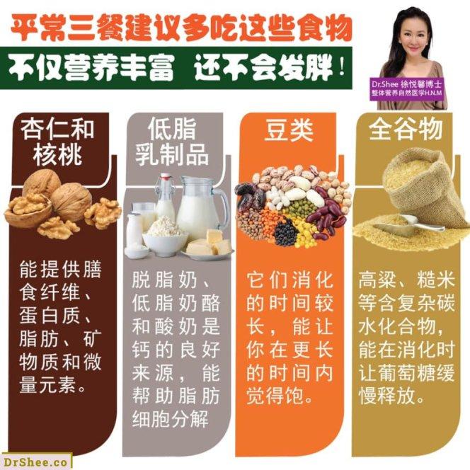 只要生活中常吃这八种食材 怎样都不会发胖 Dr Shee 吃一点就胖 这可能是你所选择的食材错了 Dr Shee 徐悦馨博士 整体营养自然医学 A02