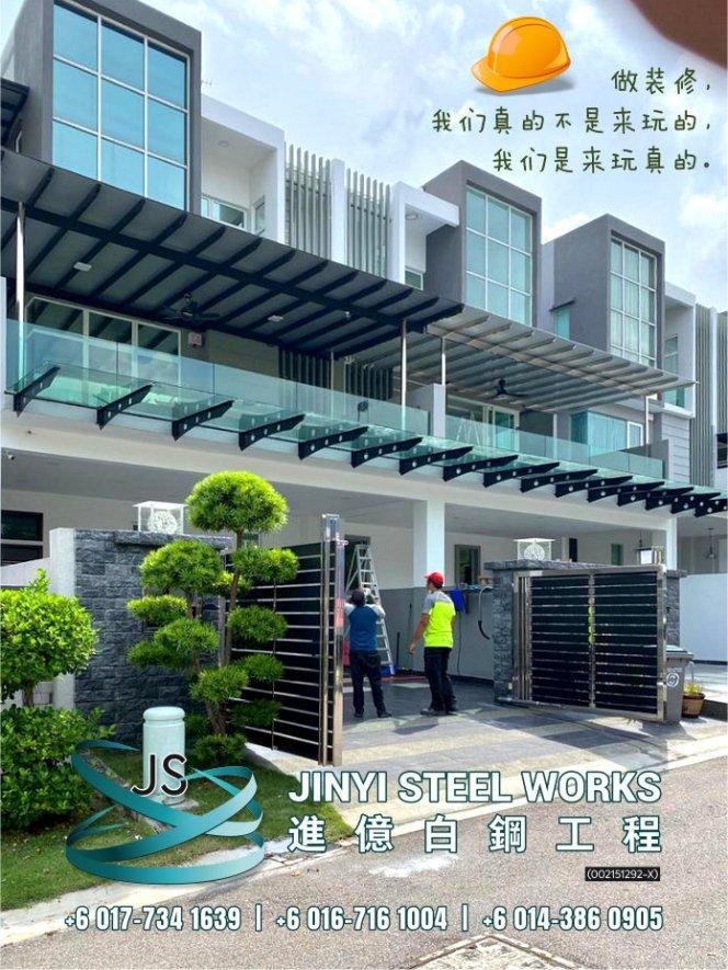 Jinyi Steel Works 铁门 钢门与不锈钢产品制造商 为您定制钢铁产品与安装 柔佛 马六甲 森美兰 吉隆坡 雪兰莪 彭亨 峇株巴辖 装修商 不锈钢制造商 B06-01