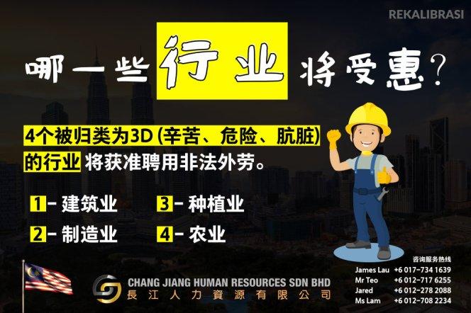 非法外劳漂白计划 REKALIBRASI 这是重新安置非法外劳计划 长江人力资源有限公司 Chang Jiang Human Resources Sdn Bhd A005