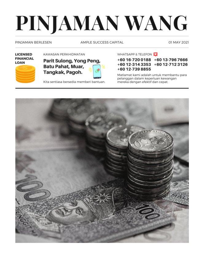 Pinjaman Wang Parit Sulong Pinjaman Wang Batu Pahat Pinjaman Wang Muar Pinjaman Wang Berlesen Parit Sulong Loan Ample Success Capital A08