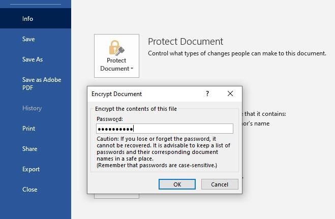 إزالة كلمة السر من ملف Word محمي من خلال برنامج (Word)