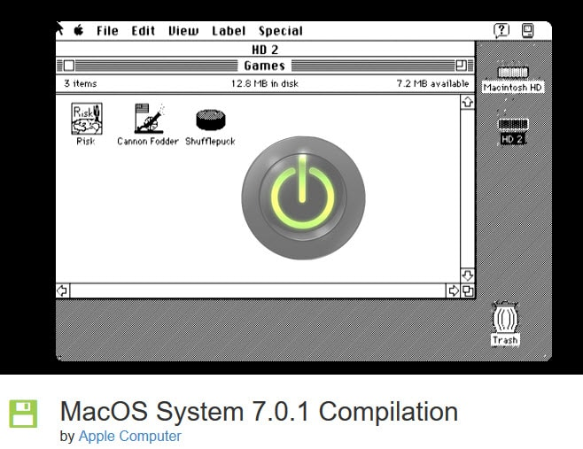 MacOS System 7.0.1 Compilation