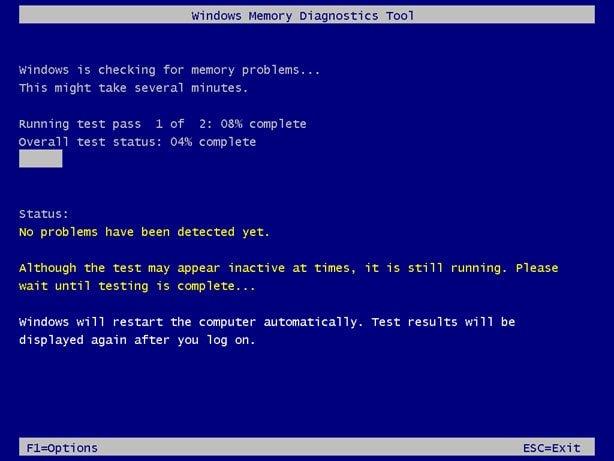 start Windows Memory Diagnostic