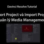 Export và Import project Trong Davinci Resoslve