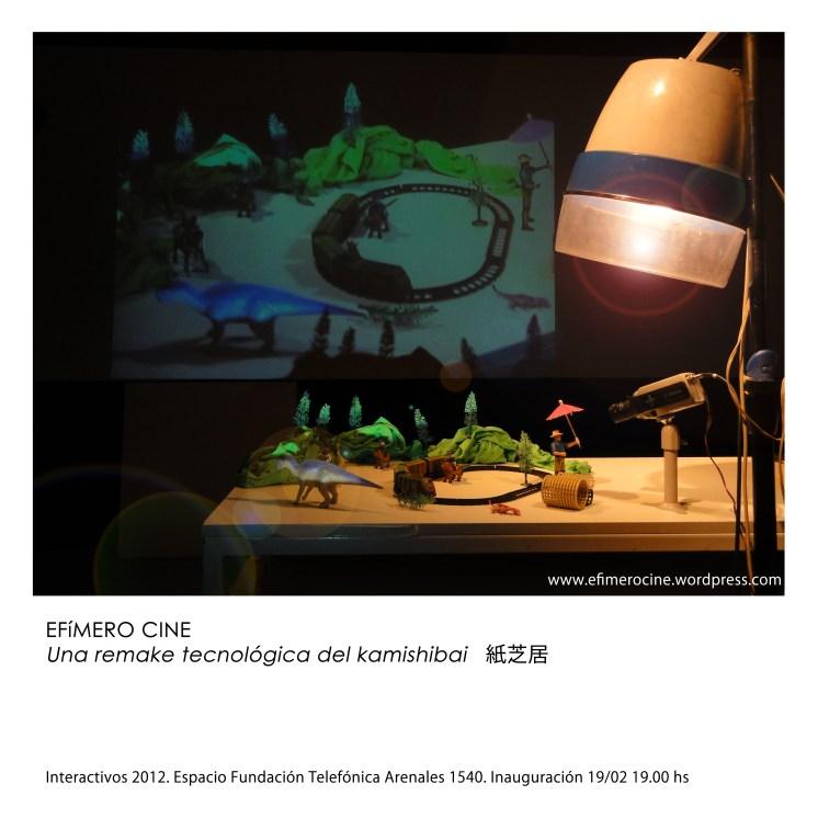 Flyer Efimero Cine inauguración