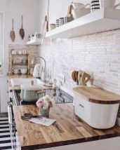 Best Creative Small Kitchen Design And Organization Ideas with white wall