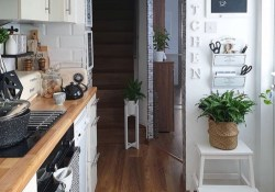 Best Creative Small Kitchen Design And Organization Ideas witj wood floring