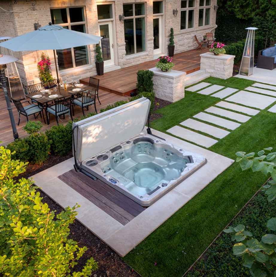 Irresistible Hot Tub Spa Designs for Your Backyard That Will Upgrade Your Home 8