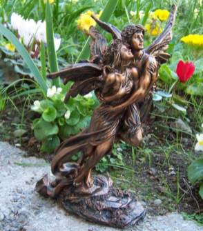 Romantic Bronze Garden Fairy Statues Ideas