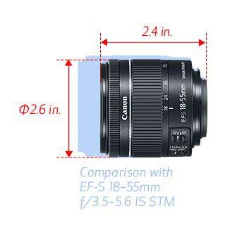EF-S 18-55mm f/4-5.6 IS STM