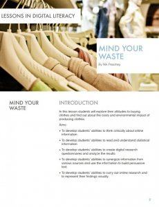 Mind your Waste – Lessons in Digital Literacy