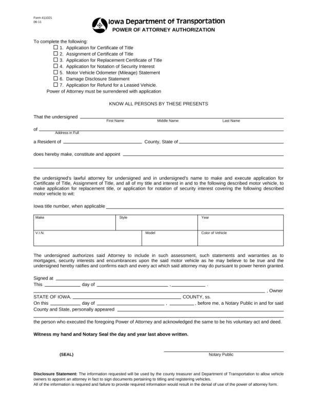 Iowa dept of motor vehicle registration for Department of motor vehicle forms