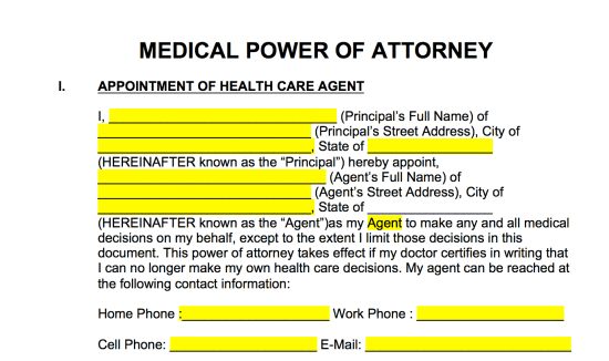 medical-power-of-attorney-appointment-of-agent