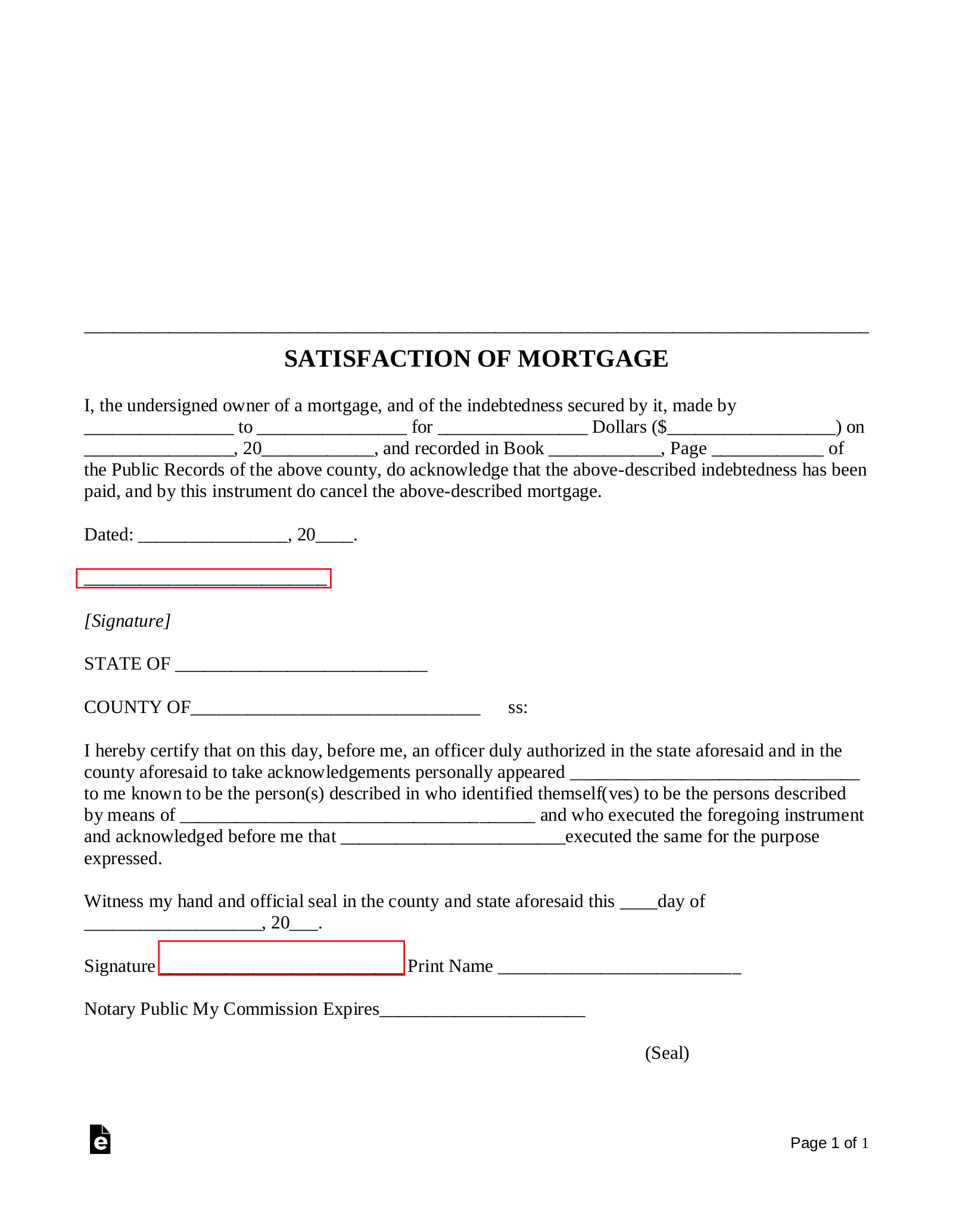 Mortgage Lien Release Letter