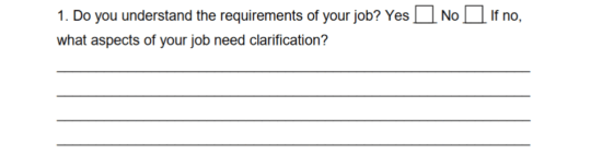Self-Evaluation Employee Form | eForms – Free Fillable Forms