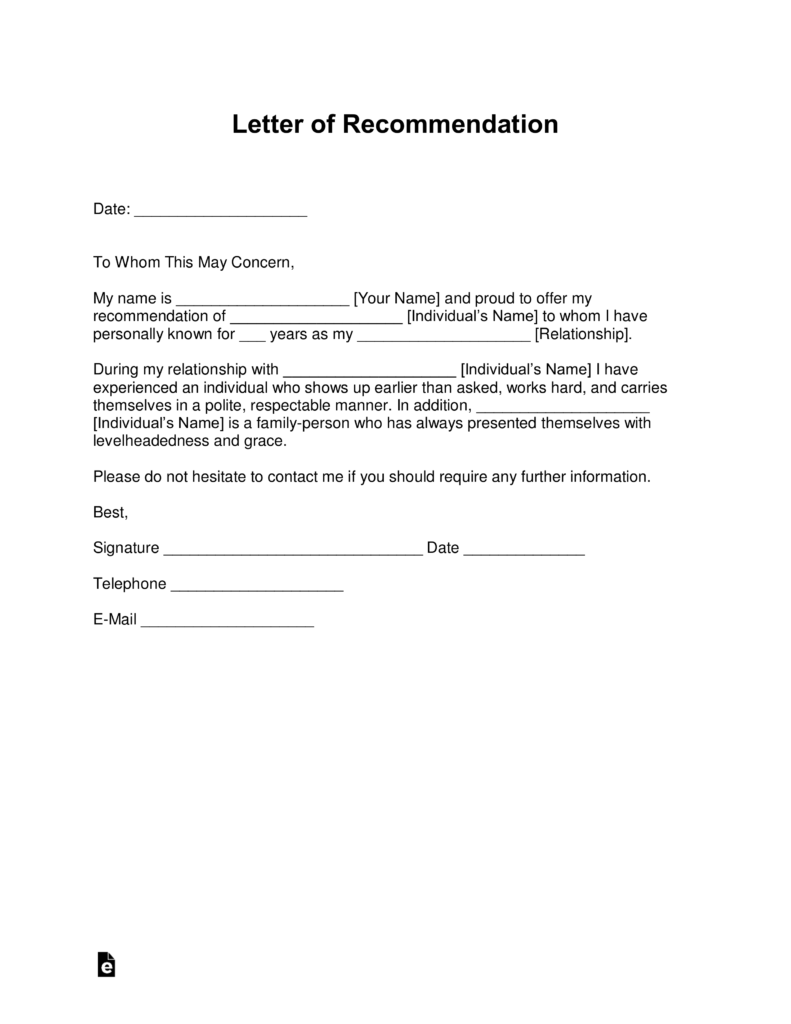 Legal Letter Of Recommendation Free Letter Of Recommendation Templates Samples And Examples