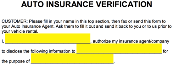 Free Auto Insurance Verification Letter Pdf Word Eforms Free Fillable Forms