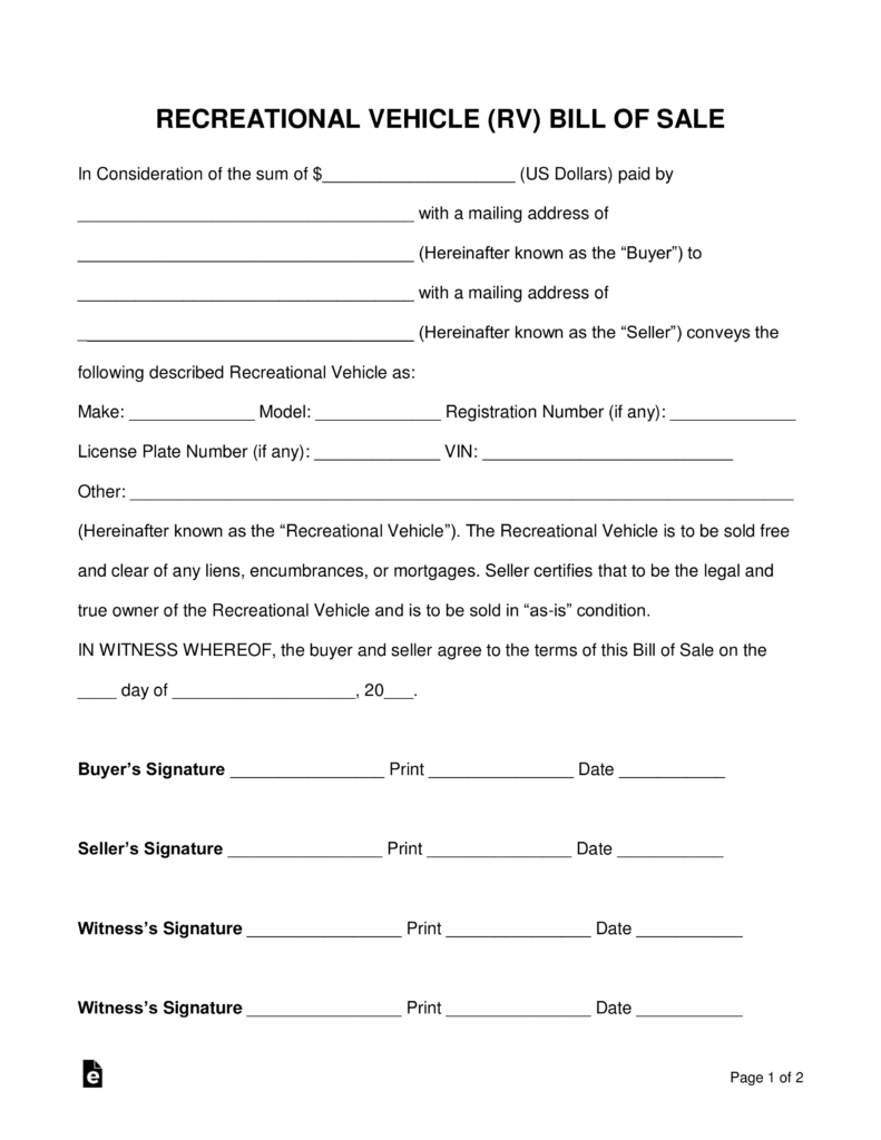 Bill Of Sale For Property Template New Trailer Bill Sale Form