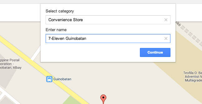 How to add place in Google Map Step 6