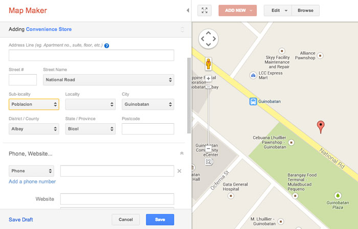 How to add place in Google Map Step 7