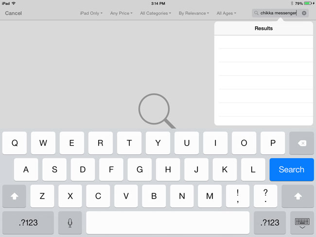 How-to-install-chikka-messenger-app-on-iPad-or-iPad-Mini-Step-2