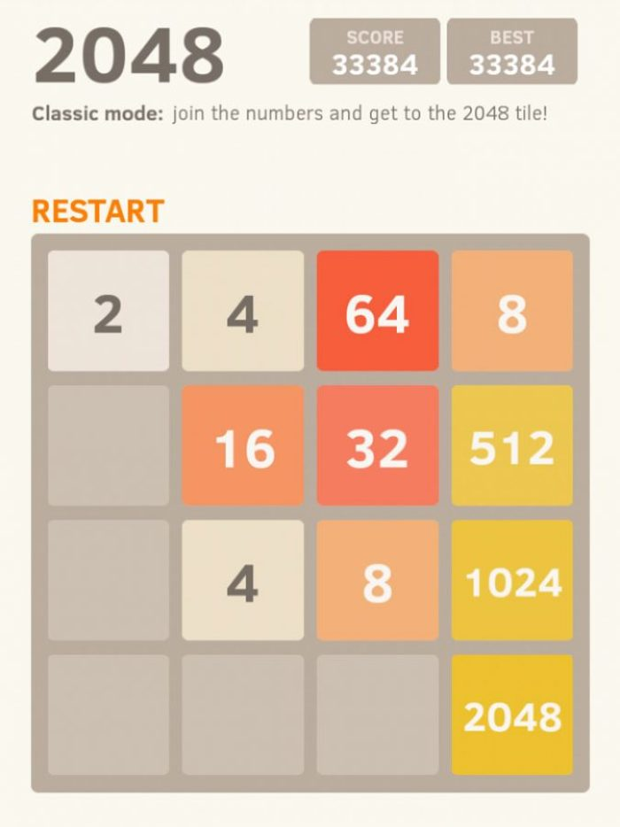 Tips how to beat 2048