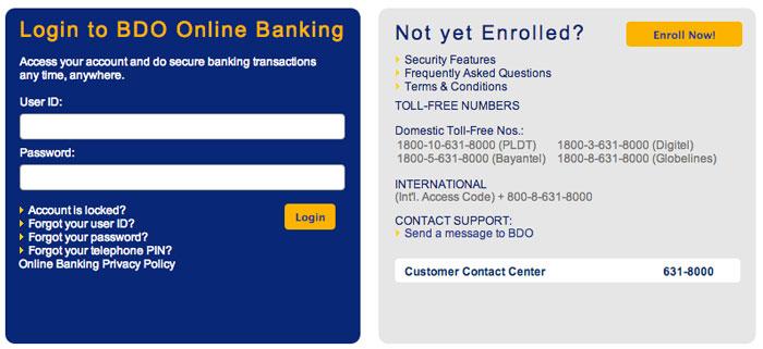 BDO-Online-Pay-Smart-Bills-Online-Step-1