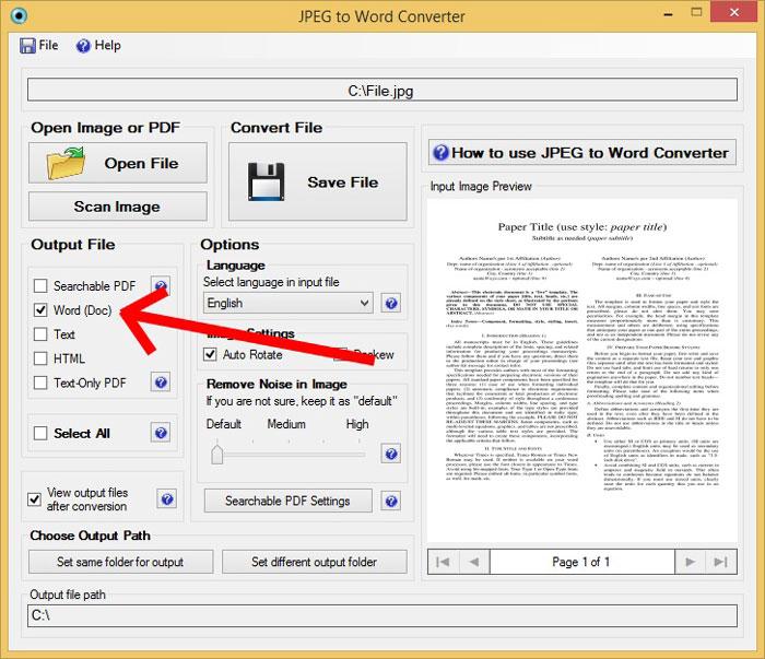 Convert-JPEG-Files-to-Word-Document-Step-2