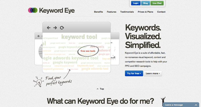keyword eye keyword research tool