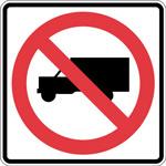 trucks cannot anter