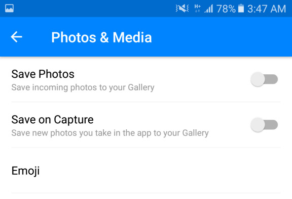 Automatic Save-Photos on FB Messenger