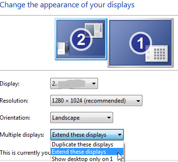 Extend Display