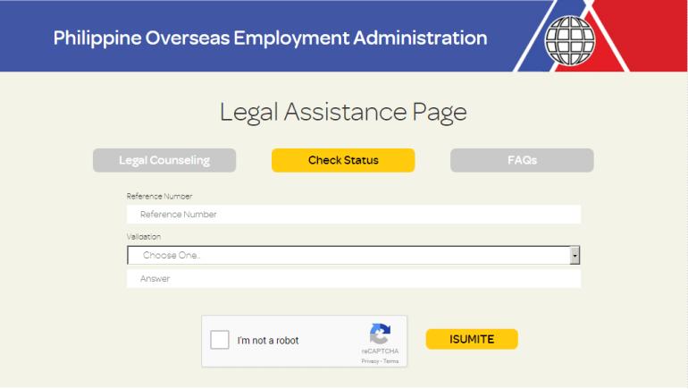 POEA Legal Assistance Page