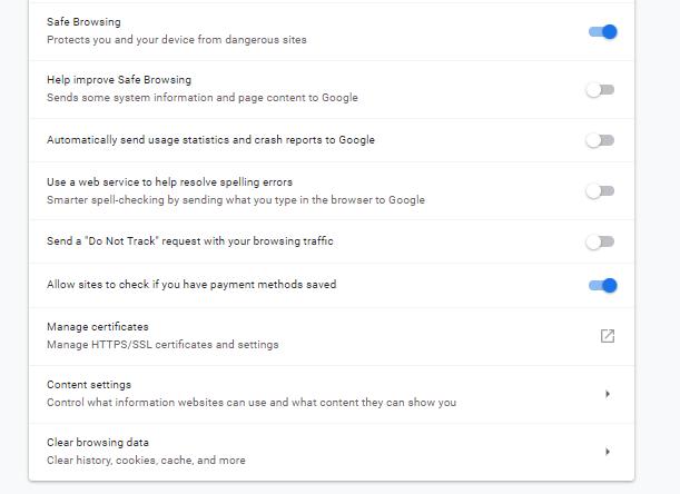 parental setup google chrome