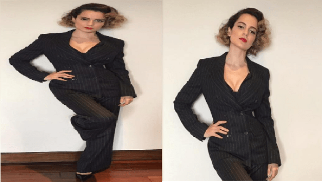 Kangana Ranaut proves that she can wear a suit better than men!