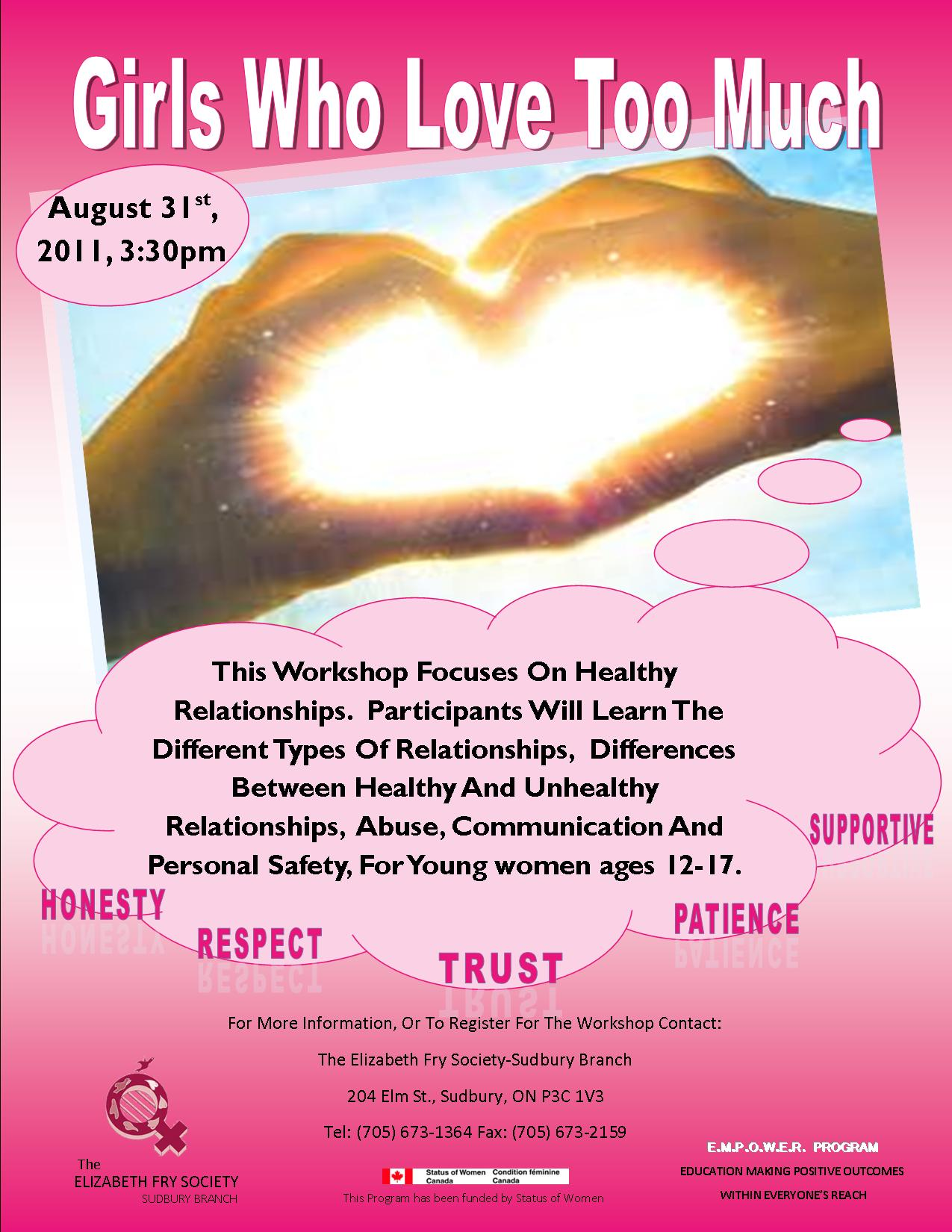 Healthy Relationships Worksheet