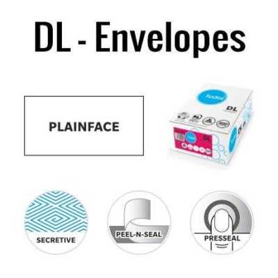 DL Plain Face envelopes