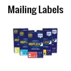Reflex Mailing Labels Box of 100 A4 Sheets