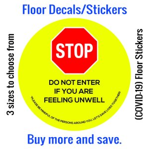 Coronavirus (COVID-19) Floor Sticker – 04