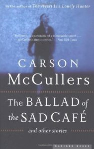 book cover: the ballad of the sad cafe