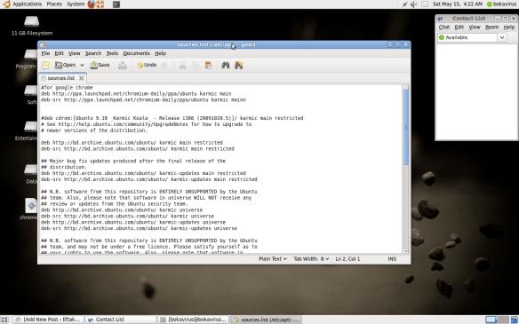 Install Google Chrome Browser in Ubuntu (9 04, 9 10  & 10 04