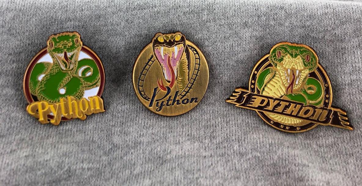 Nieuwe Python-pins