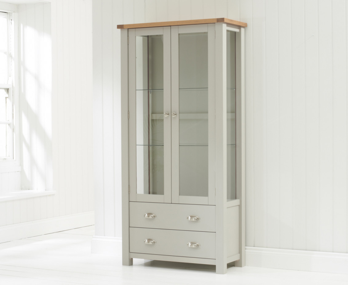 stylish affordable sofas uk bad boy sandringham glass display cabinet oak & painted grey ...