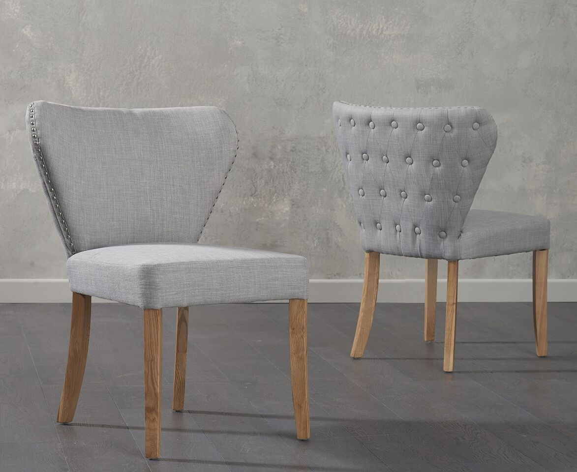 Isabella Fabric Grey Dining Dining Chair Pairs
